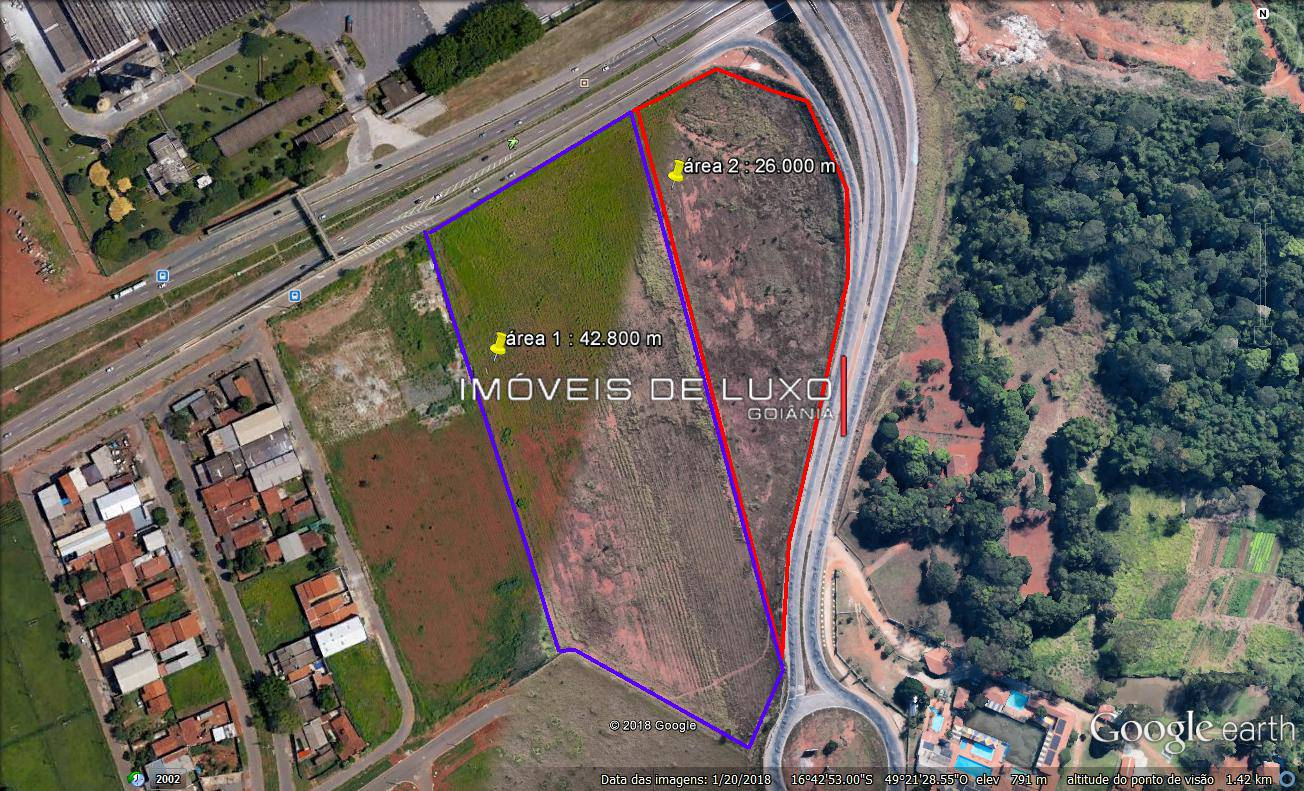 Imóveis de Luxo - Área em frente a Eternit, Br 060/ Anel Viário, sentido Goiânia