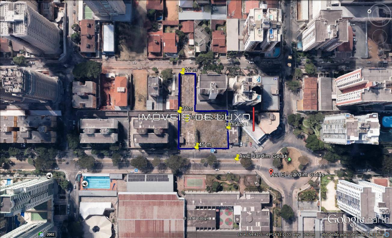 Imóveis de Luxo - Área de 2.200m com gabarito na Av. E no Jardim Goiás