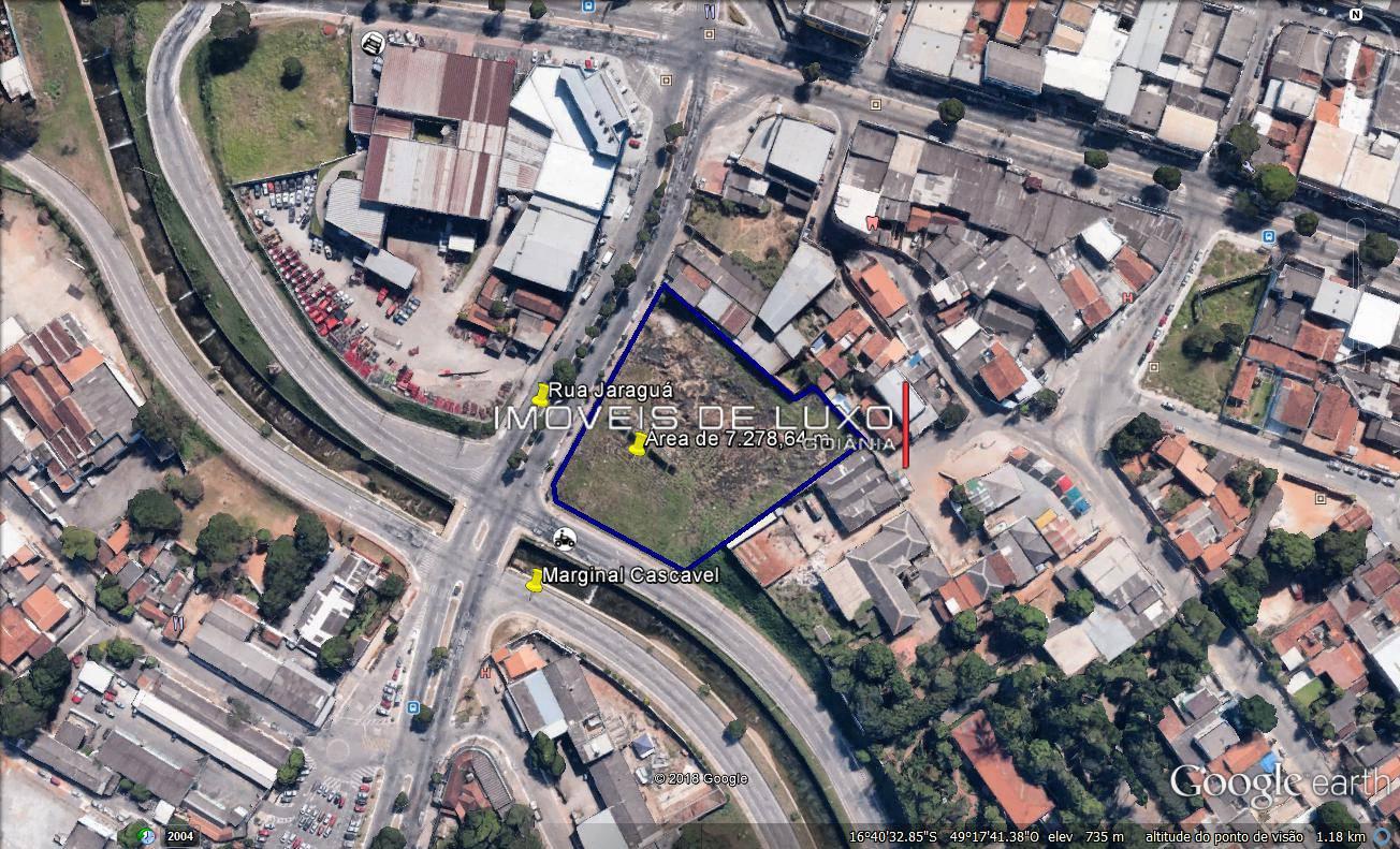 Imóveis de Luxo - Área com 7.278,64 m na Rua Jaraguá com Marginal Cascavel